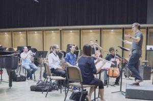 Grad recital rehearsal, 2017